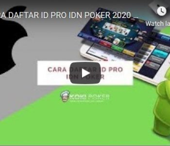 CARA DAFTAR ID PRO IDN POKER 2020 via Mobile ANDROID & iOS