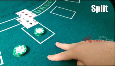kode split blackjack